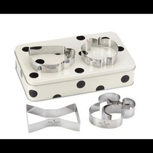 Kate Spade Cookie Cutters with Storage Tin